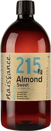 Naissance Huile d'Amande Douce (n° 215) – 1 litre – 100% naturelle, végan, sans OGM – inodore, parfaite pour les mass...