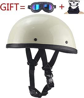 Evin Low-Key Novelty Beanie Helmet Quick Release -DOT Certified Half-Shell Retro Helmet Skull Cap,White,XL