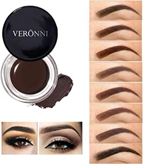 VERONNI Eyebrow Cream,Brow Color Long Lasting Waterproof Eyebrow Pomade Gel,Eyebrows Enhancers Smooth Eye Brow Makeup 0.75oz(#01 Dark Brown))