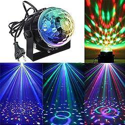 KINGSO Mini LED Lichteffekte Disco Licht Party Licht Bühnenbeleuchtung 3W RGB Sprachaktiviertes Kristall Magic Ball Bühnenlicht für Show Disco Ballsaal KTV Stab Stadium Club Party [Energieklasse A]