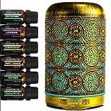Humidificador Aceites Esenciales,GXZOCK 250ml Difusor de Aromaterapia, Humidificador Ultrasónico con LED de 7 colores y 4 Temporizadores de para Aromaterapia en el Hogar,Oficina,Spa, Yoga,Masaje,Bebé