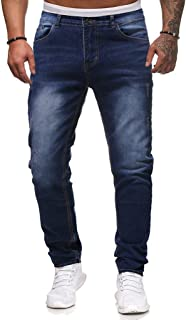 Mmnote Men's Relaxed Fit Jeans with Hammer Loop Industrial Straight Denim Loose Denim Work Pants