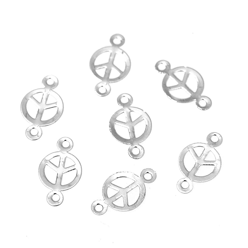 Monrocco 20pcs Metal Connectors Round Jewelry Connectors Charms Pendant Jewelry Findings for Jewelry Making Necklace Bracelet DIY