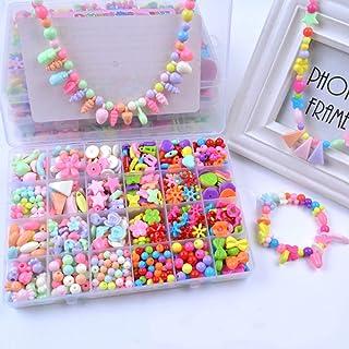 Loisirs créatifs DaskFire 24 Types Perles pour Enfants DIY Perles Plastique pour Bracelet Collier Bijoux de Fabrication Idéal Cadeau pour Enfants Filles 580 pièces Cuisine & Maison
