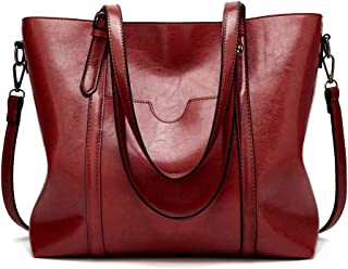 Women Bag Top Handle Satchel Vintage Shoulder Bag Tote Purse Large Capacity Bags Tote Bag,Leather Purse Handbag Shoulder Bag(Red)