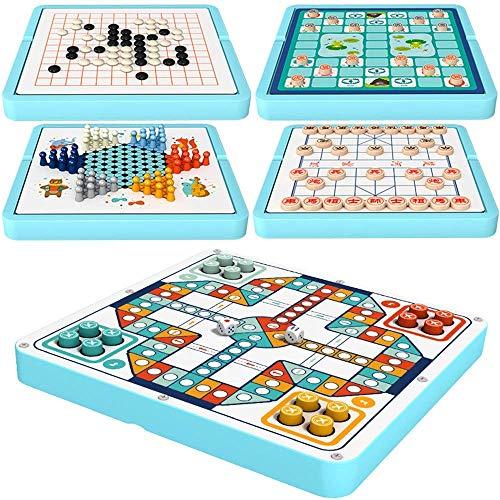 Dammen Dammen houten spel houten spel Travel Game 5 In 1/10 In 1 Board Games aijia ( Color : True Color , Size : 5 set )