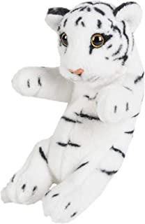 Wildlife Tree 8 Inch Small Baby White Tiger Cub Stuffed Animal Plush Floppy Zoo Safari Cubs Collection