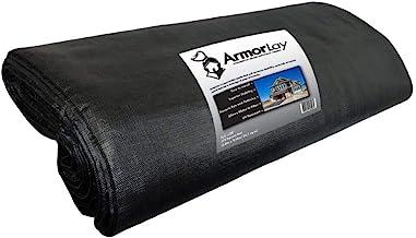 ArmorLay Commercial Grade Ground Stabilization Fabric, Underlayment (Black, 12.5' X 30')