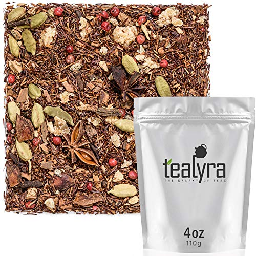 Tealyra - Moroccan Orange Rooibos - Ginger - Cinnamon - Fennel - Red Bush - Herbal Loose Leaf Tea - Vitamins and Antioxidants Rich - Caffeine Free - All Natural - 112g (4-ounce)