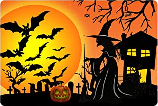 Salabomia Doormat Kitchen Floor Runner Floor Mat Witch Halloween Pumpkin Design Entry Rugs Home Decor Carpet