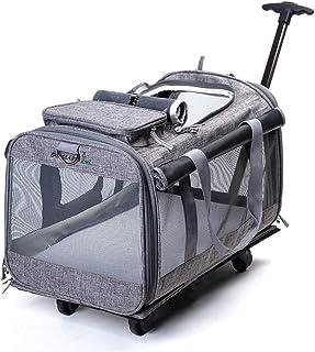 47dd350e08 WLDOCA 2 en 1 Trolley Chariot Sac de Transport a roulettes pour Chien Chat Sac  de