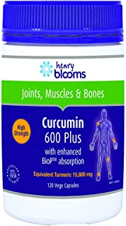 Henry Blooms Curcumin 600 Plus with BioP 120 Capsules