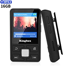 Clip MP3 Player, 16GB Music Player with Bluetooth 4.1, Portable Lossless Sound with FM Radio Voice Recorder E-Book, Support up to 128GB
