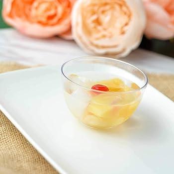 12 //pk  Clear Petite Round 4oz Plastic Disposable Dessert Bowl