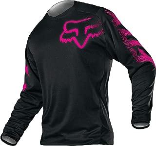 Fox Racing 2018 Youth Girls Blackout Jersey-YL (Large, Black/Pink)