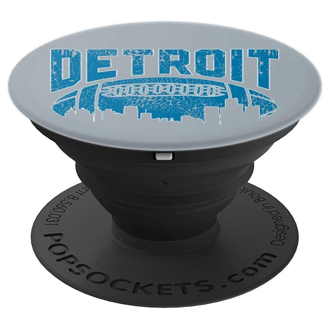Detroit, Michigan - Lion Football Vintage Distressed Gift - PopSockets Grip and Stand for Phones and Tablets