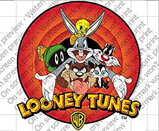 #23580 :: LOONEY TUNES Classic Crew Design A4 Cake Topper