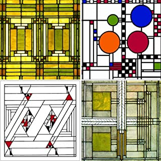 frank lloyd wright art glass designs