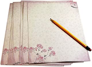 16Pcs Lovely Flower Kraft Paper Stationery Calligraphy Writing Papers