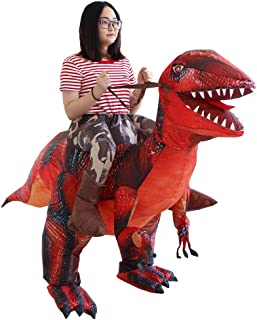 Inflatable inflate Costumes Halloween Purim Cosplay T-Rex Dinosaur Funny Blow Up Clothes for Adult