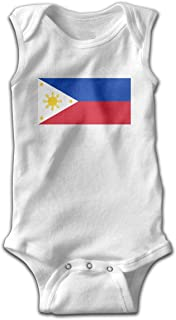 Philippines Flag Newborn Toddler Baby Sleeveless Bodysuits Coverall Jumpsuit Pajamas