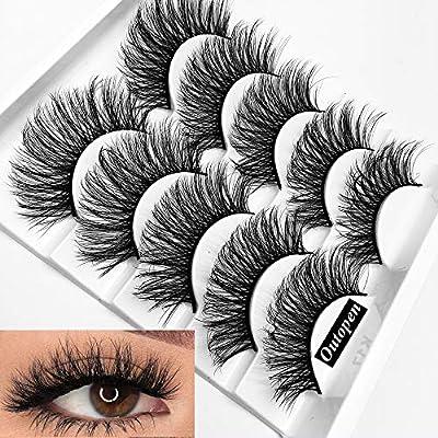 Mixed 3D Mink False Eyelashes Dramatic Long Fake Lashes Full Strips Thick Cross Wispy Volume Fluffy Eye Makeup Tools 5 Pairs