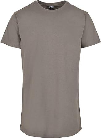 Urban Classics Men's Shaped Long Longline T-Shirt, Shortsleeves Tall Tee, Crew Neck, 100% Jersey Cotton (Pack of 2)