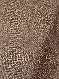 Slantastoffe Tweed Stoff Doubleface Fischgrat Ocker meliert