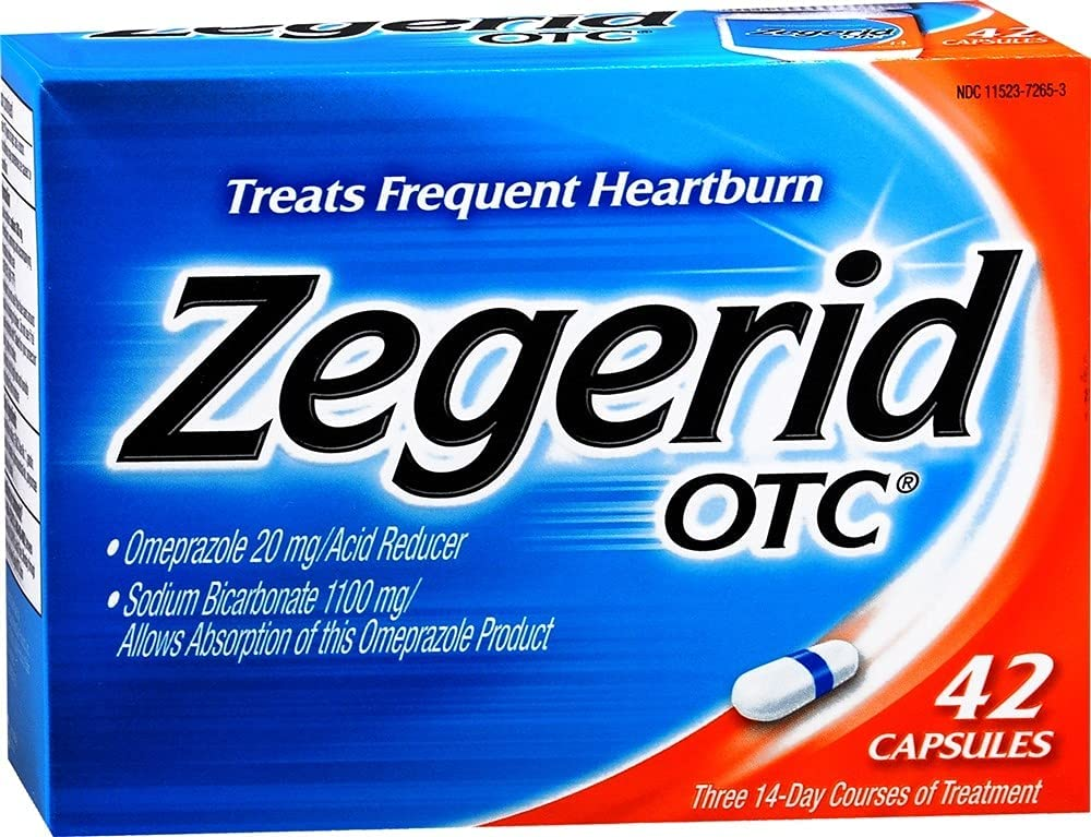Zegerid OTC depot Capsules 42-count of San Diego Mall Pack 2