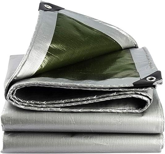 GUOWEI Bache Polyéthylène Imperméable Couvrir Nuance Camping avec Oeillets de Plein Air Plusieurs Tailles (Couleur   argent, Taille   4.8x5.8m)