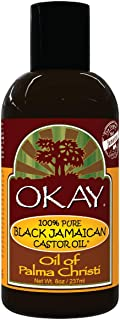 Okay | 100% Pure Black Jamaican Castor Oil | For All Hair Textures & Skin Types | Grow Healthy Hair - Treat Skin Condition...