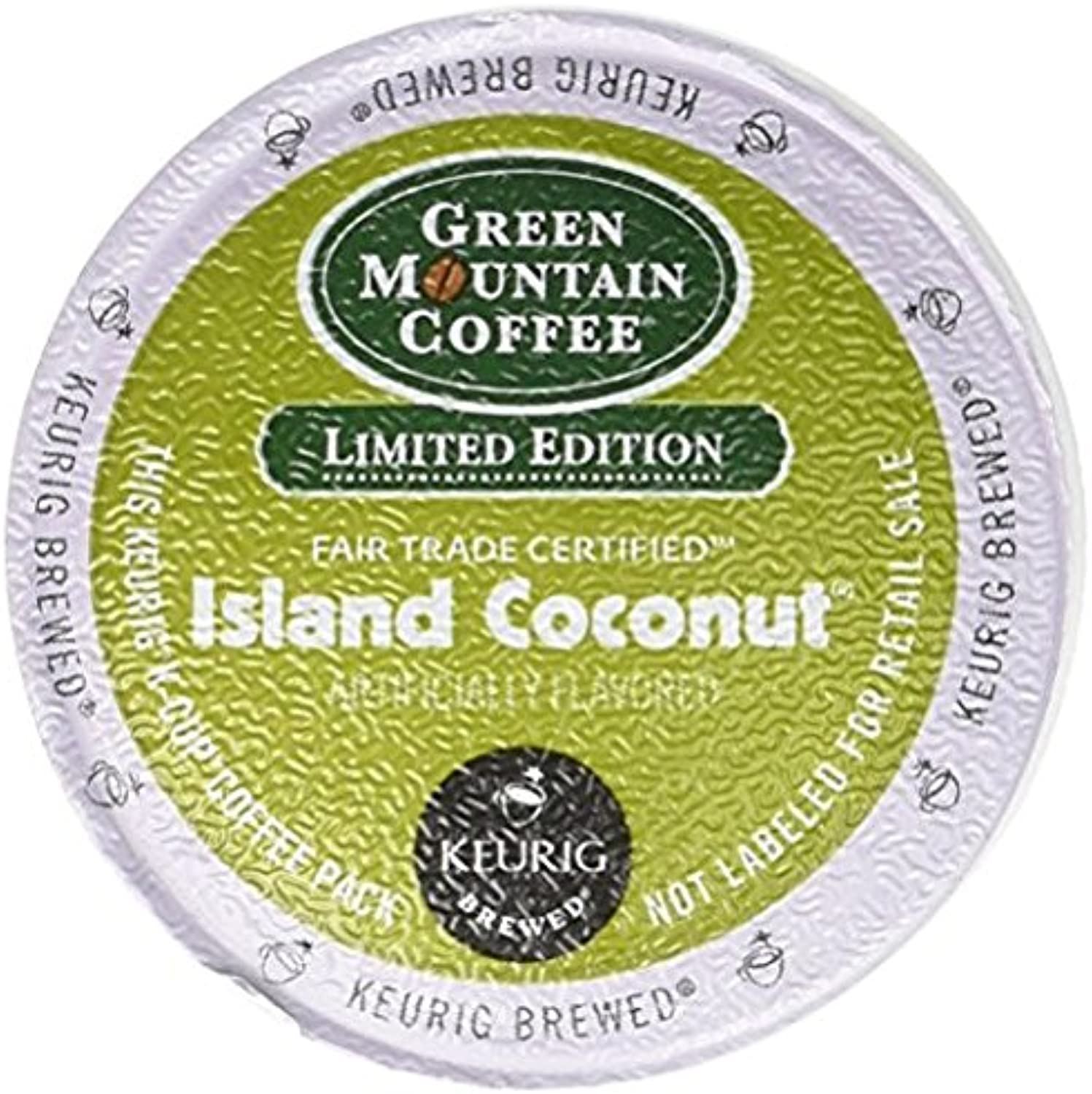 Green Mountain Coconut Island Blend, Single Serve Coffee K-Cups, 48-Count For Brewers