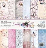 Pack de 12 Papeles (12'x12'/30,5x30,5cm) - Hello Spring