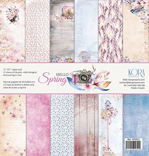 Pack de 12 Papeles (12x12/30,5x30,5cm) - Hello Spring