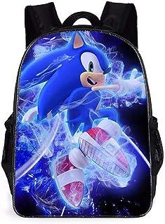Sonic Imprimé Sac à Dos Enfants Sac à Dos, Sonic The Hedgehog Sac à Dos, Mignon Sac à Dos Maternelle Sac d'école Enfants S...