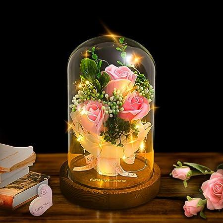 Forever fleurs dans une boîte-artificielle roses-Mères Jour Cristaux-Fête Mères