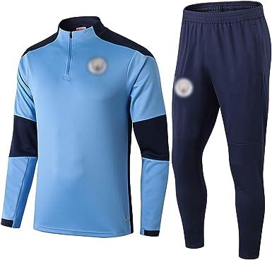 Tuta da allenamento ufficiale del Manchester City 2021 con mezza ...