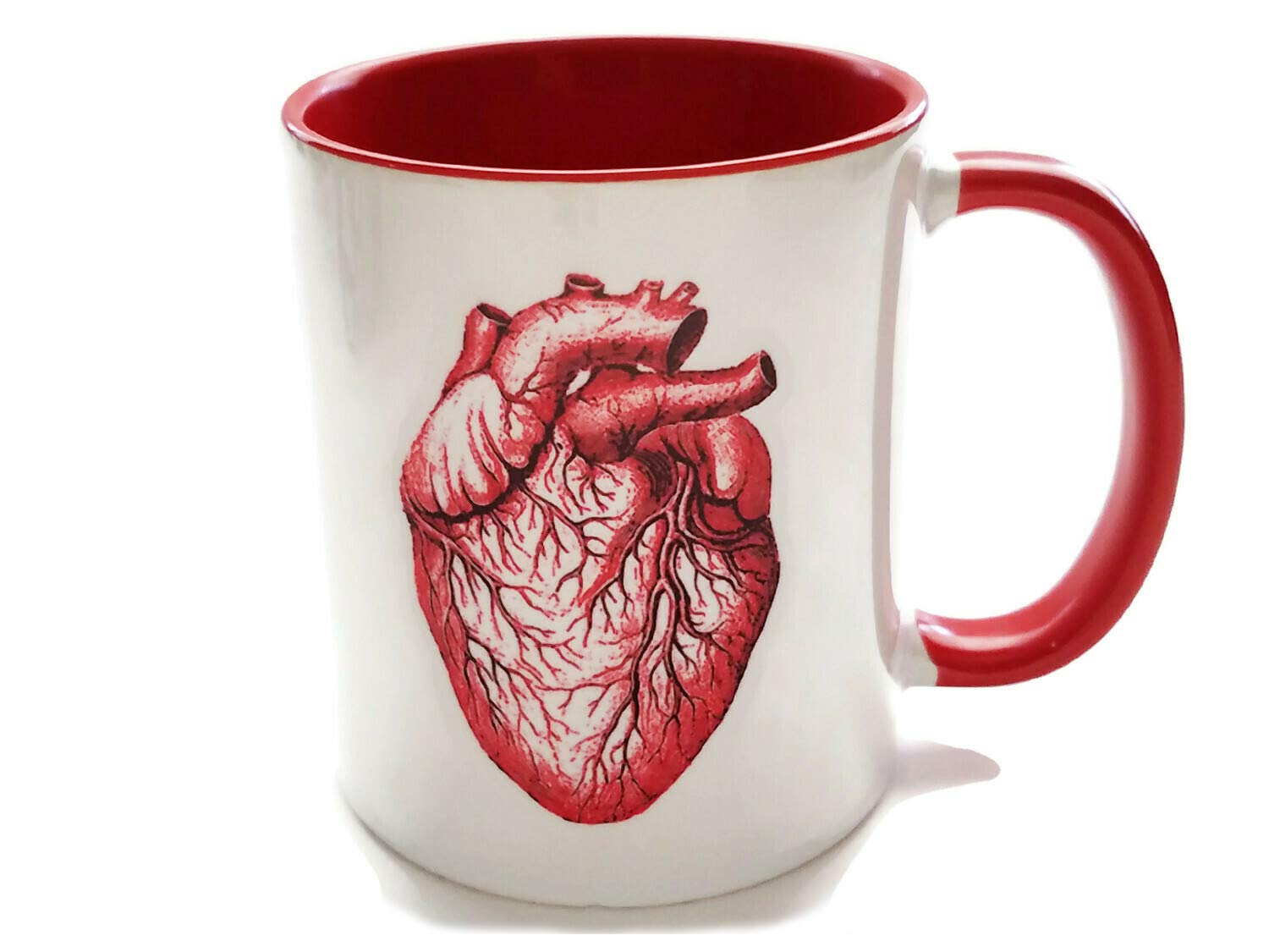 Max 68% OFF Oakland Mall Red Anatomical Heart Coffee Mug Nurse Practitione Anatomy Doctor