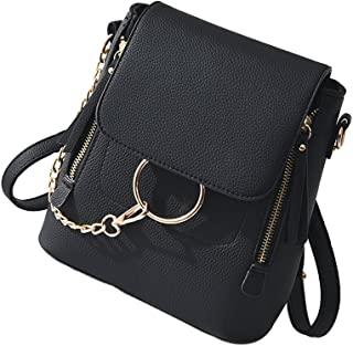 Fashion Women Crossbody Backpack Purse Small Pu Leather Shoulder Bag Ladies Cute Chain Satchel Bag