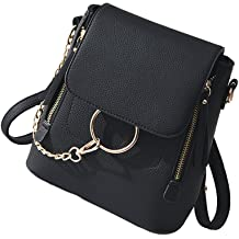 HENGSHENG Fashion Women Crossbody Backpack Purse Small Pu Leather Shoulder  Bag Ladies Cute Chain Satchel Bag 83ff122153d81