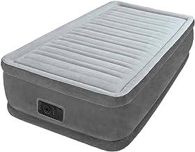 Intex Comfort-Plush luchtbed - Twin - 99 x 191 x 33 cm - met ingebouwde elektrische pomp