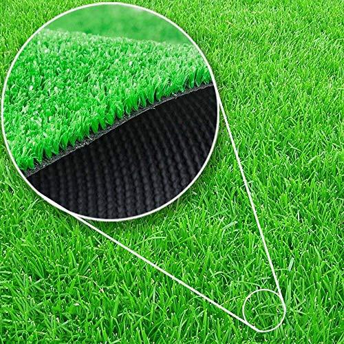 ZZHF BBGS Kunstrasen 10 Millimeter-Verschlüsselungs-künstlicher Rasen, Kindergarten-Balkon-künstlicher Rasen-Grün-Simulations-Plastikrasen-Dekorations-Teppich-dekorative Wand Garten Rasen