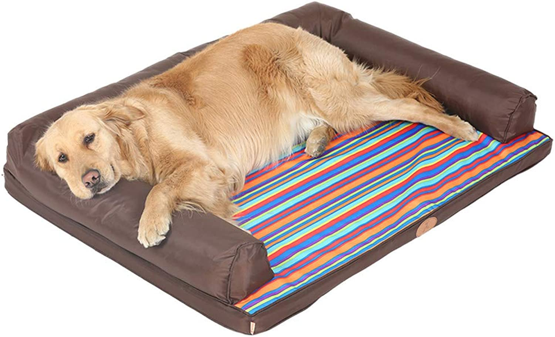 Pet Bed, Four Seasons Universal Dog mat, Removable pet Sofa  Brown (70  50cm)