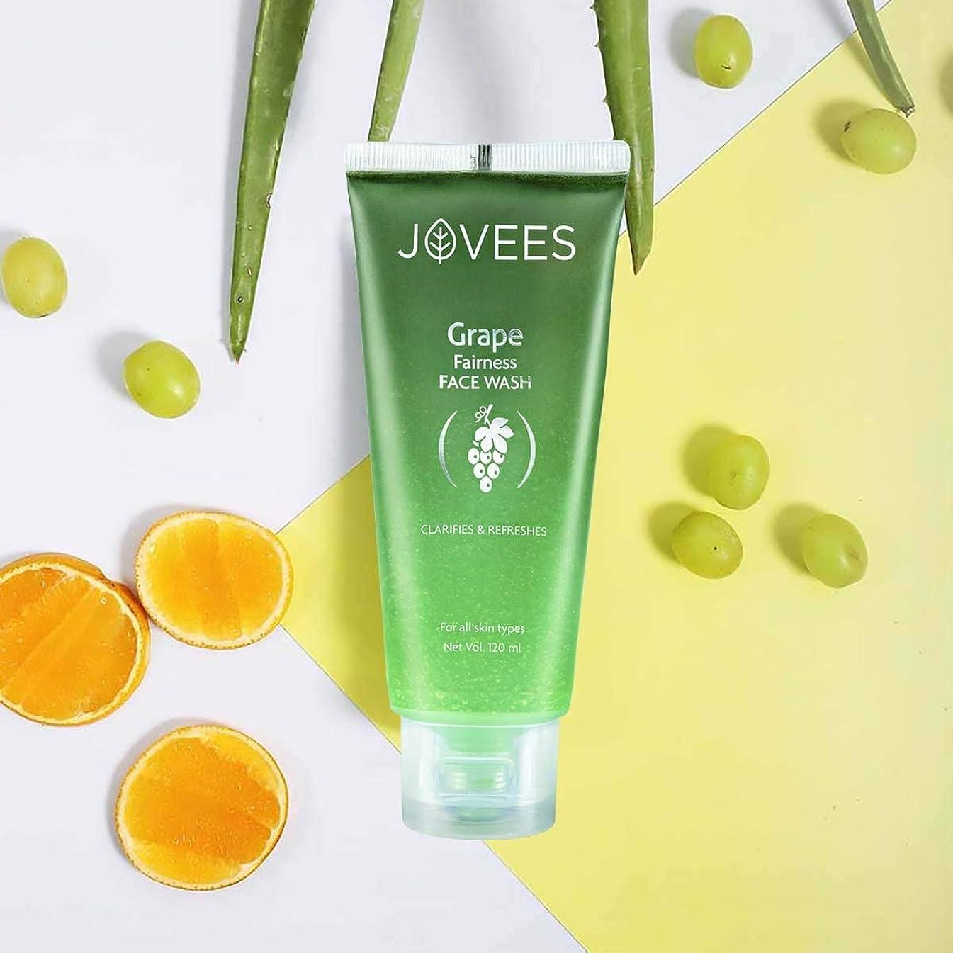 遷移ゴールデン用心するJovees Clarifying Grape Fairness Face Wash 120ml Orange Peel extract and Vitamin E オレンジピールエキスとビタミンEを配合したグレープフェアネス洗顔料