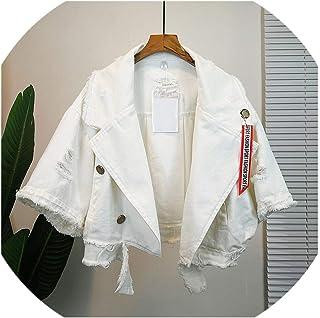 SATOSHI DUN-outwear Pockets 69201 - Chamarra de Mezclilla para Mujer, Estilo Polo, Suelta, para otoño e Invierno
