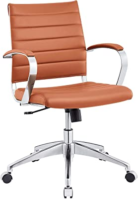 Modway Jive Office Chair, Mid Back, Terracotta