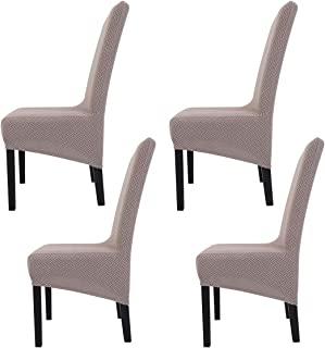 Fundas de Silla de Comedor Elásticas y Modernas,Hengweiuk Fundas para sillas Pack de 4 6 Fundas sil
