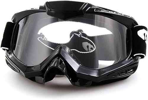 Lunettes de DZW - motocyclettes routières CIRC. lunettes ski lunettes hors - route , noir