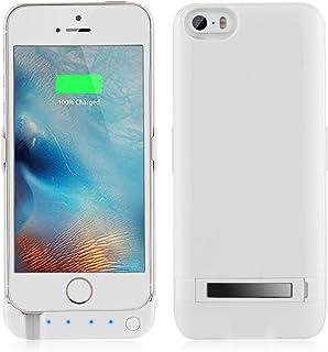 Funda de batería para iPhone 5, 5S, SE, Yicente, 4200 mAh, Cargador de batería Externo, portátil, batería extendida, batería Recargable, batería Recargable, Funda para iPhone 5, 5S, SE Blanco