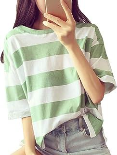 [シュバリアン] 半袖 ゆったり ボーダー Tシャツ カットソー レディース